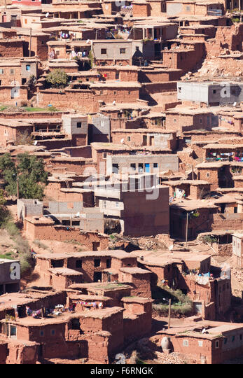 Traditional Berber village at the Atlas Mountains - Stock-Bilder
