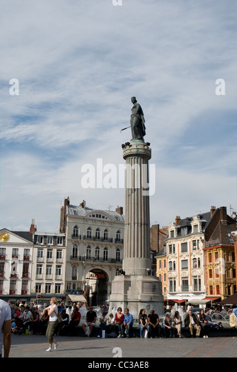 Place general de gaulle stock photos place general de for Stand lille