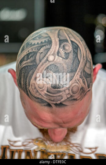 Brighton Tattoo Convention 2014, East Sussex, UK - Stock-Bilder