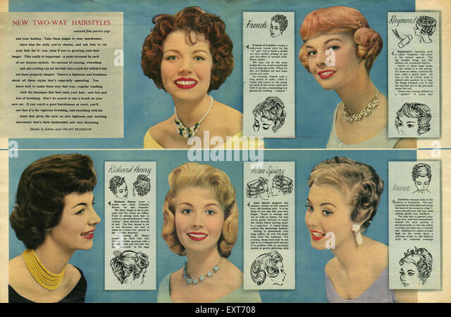 1950s Hairstyles Stock Photos & 1950s Hairstyles Stock