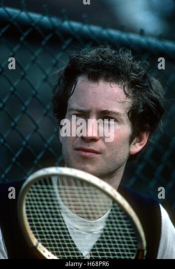 Portrait of John McEnroe, Forest Hills, 1982. - Stock Image