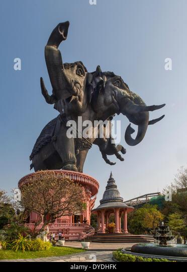 Thailand, Asia, Bangkok, Erawan, architecture, culture, elephant, exterior, impact, museum, touristic, travel, visual, - Stock Image