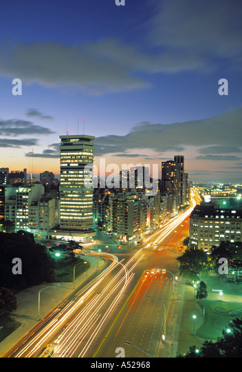 Avenida Leandro N. Alen, Buenos Aires, Argentina - Stock Image