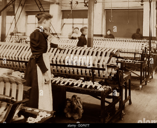 Textile workers early 1900s - Stock Image