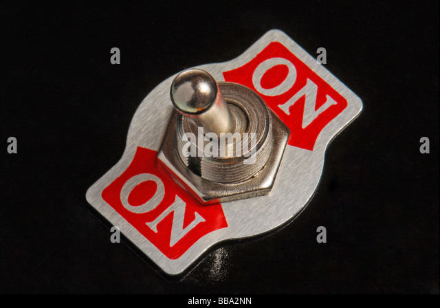 Switch is always on, symbolic image for always the same - Stock Image