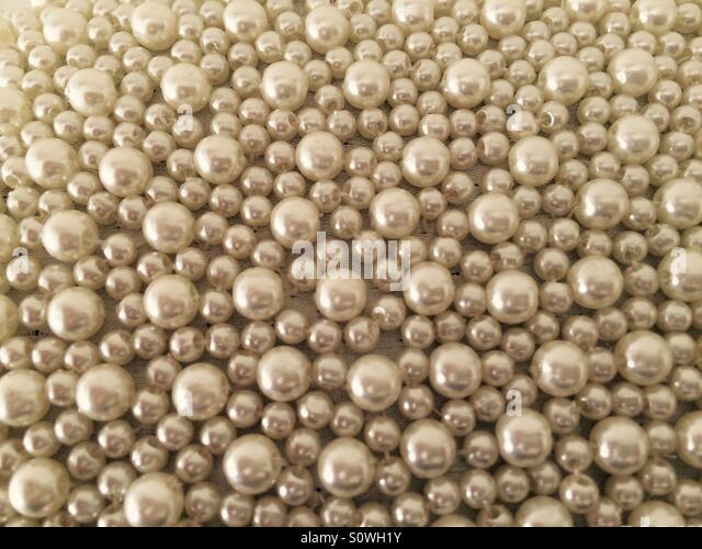 Beautiful wedding beads. - Stock Image