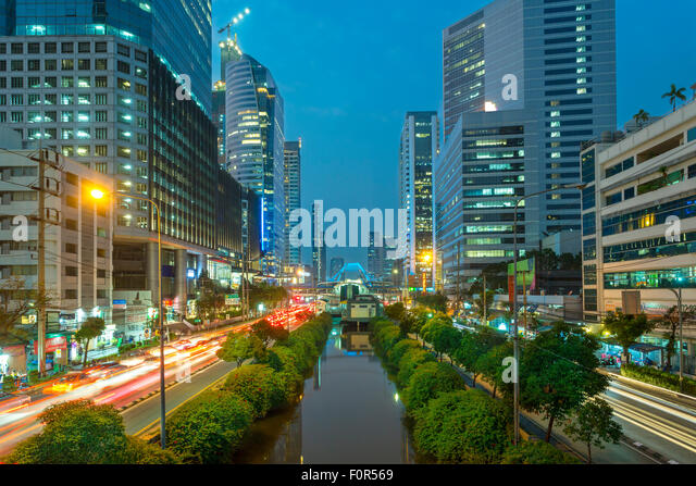 Bangkok, Thailand, Traffic in Downtown - Stock Image