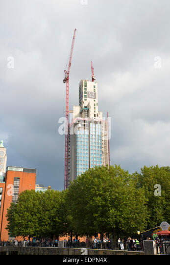 South bank Tower, formerly King's Reach Tower, being redeveloped, London - Stock Image