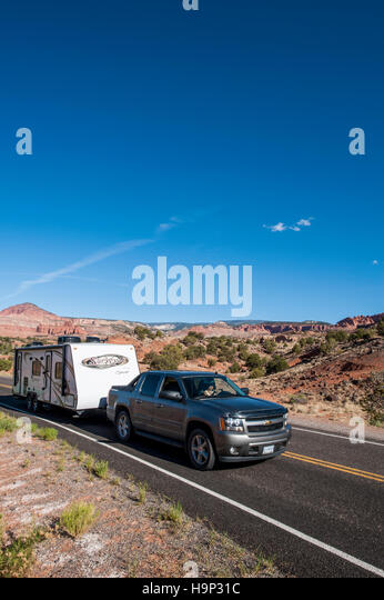 Trailer towing stock photos trailer towing stock images for Camel motors on park and ajo