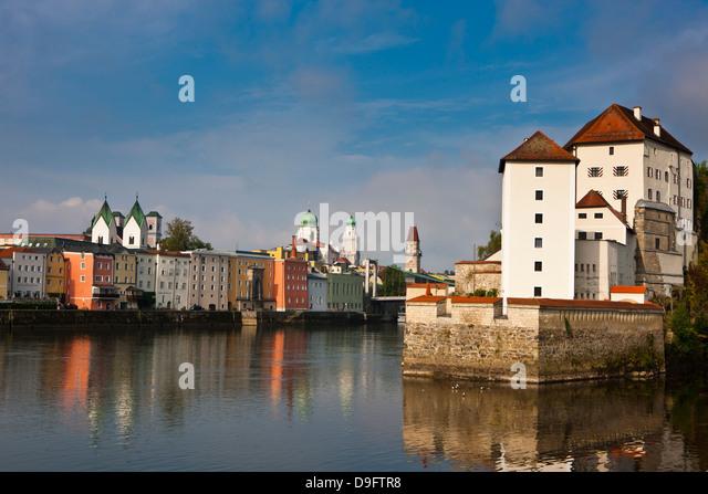 River Danube, Passau, Bavaria, Germany - Stock-Bilder
