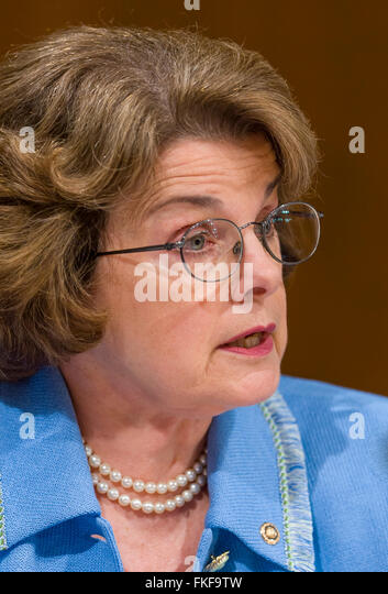 WASHINGTON, DC, USA - U. S. Senator Dianne Feinstein (D-CA) - Stock Image