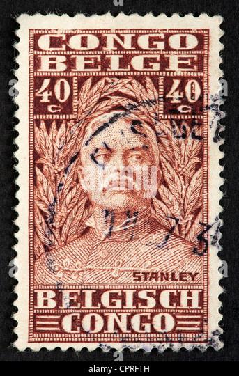 Belgian Congo postage stamp - Stock-Bilder