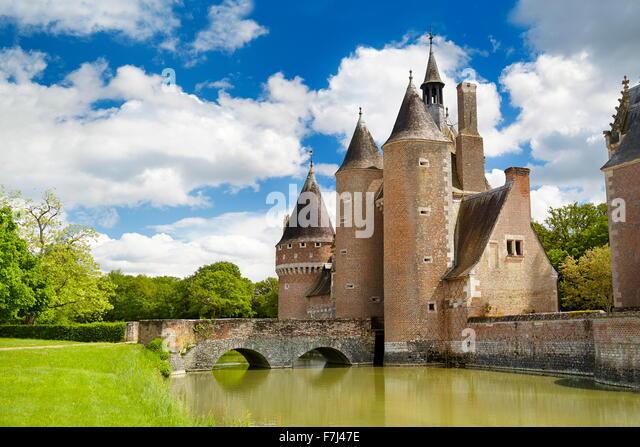 Castle du Moulin, Loire Valley, France - Stock Image
