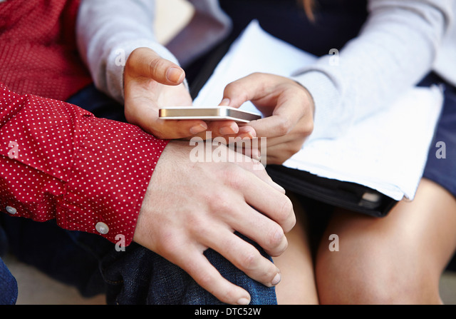 Young couple spending time together - Stock Image