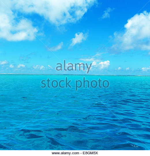 French Polynesia, Moorea, Tropical turquoise sea - Stock Image