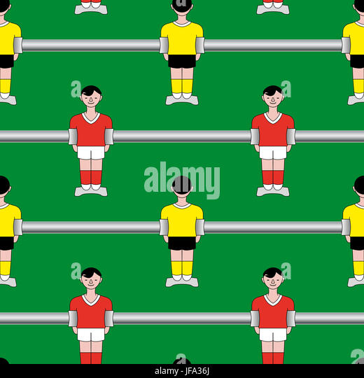 seamless pattern table soccer - Stock Image