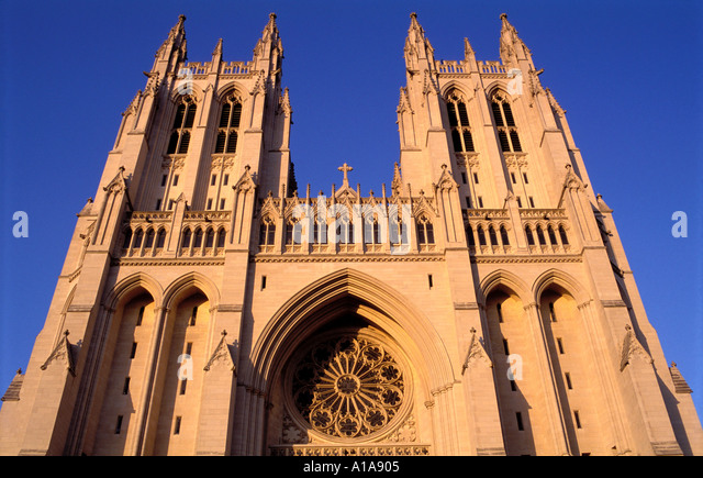 Washington National Cathedral, Washington D.C. - Stock Image