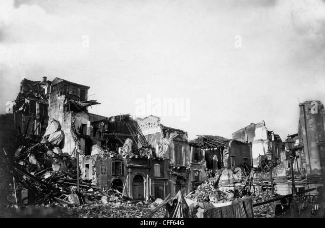 earthquake of Messina,Italy,1908 - Stock Image