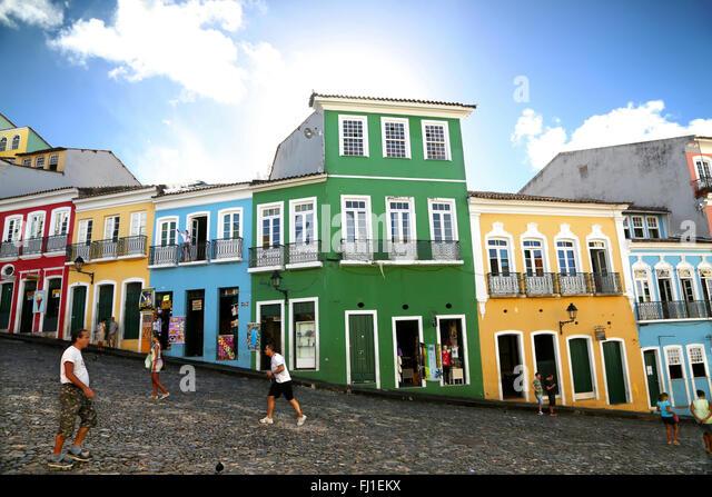 Largo do Pelourinho is a historic neighborhood located in the western zone of Salvador de Bahia , Brazil. - Stock Image