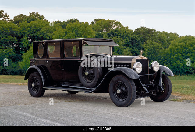 1927 Hispano Suiza H6B 4-door limosine. - Stock Image
