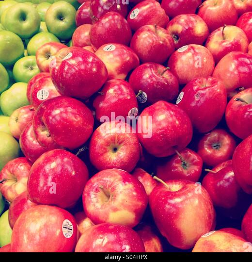 Piles of apples - Stock Image
