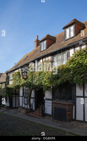 The Mermaid Inn, Mermaid Street, Rye, East Sussex, England, UK - Stock Image
