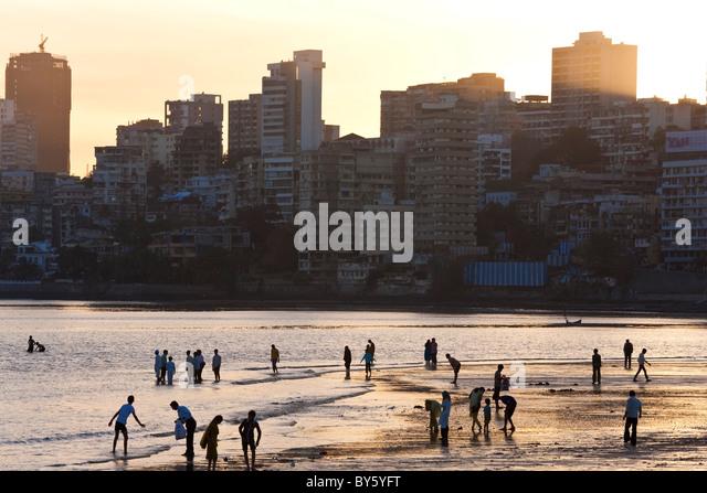 Chowpatty Beach, Mumbai, (Bombay), India - Stock Image