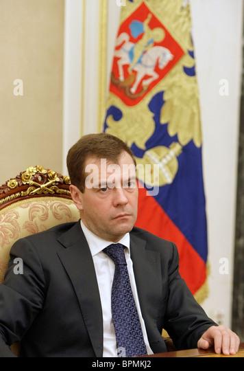 Medvedev holds meeting on Komi tragedy - Stock Image