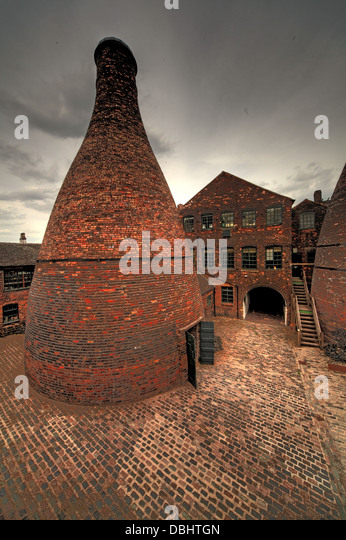 Single Potbank & factory  from Longton Stoke-On-Trent Great Britain showing potteries heritage at the Gladstone - Stock Image