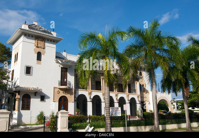 Puerto Rico, Caribbean, Greater Antilles, Antilles, San Juan, restaurant, building, construction, architecture, - Stock Image