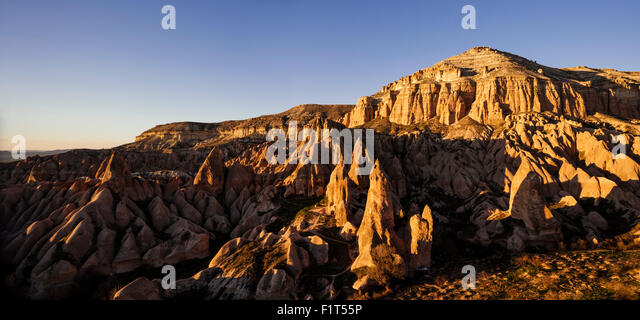 Red Valley at sunset, Cappadocia, Anatolia Region, Turkey, Asia Minor, Eurasia - Stock Image