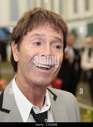 Portrait of the singer Sir Cliff Richard. Cliffs Drop Steep Overlooking Happy - Stock Image