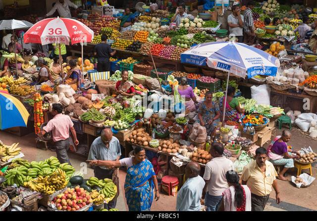 Municipal market Panjim Goa India - Stock-Bilder