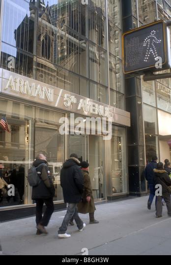 Richard opened stock photos richard opened stock images for Armani store nyc