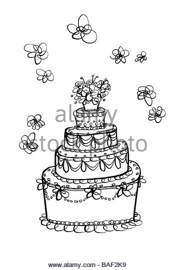 Wedding Cake - Stock Image