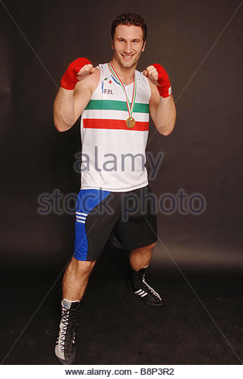roberto cammarelle boxer - Stock Image