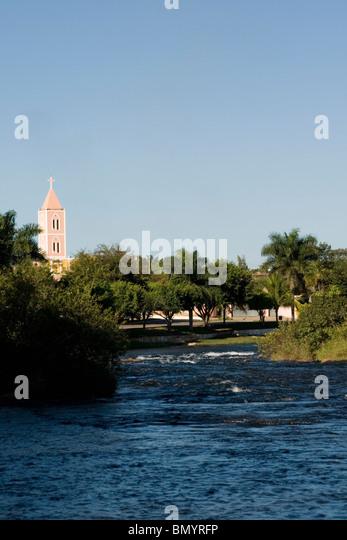 Correntes River, Correntina, Bahia, Brazil - Stock Image