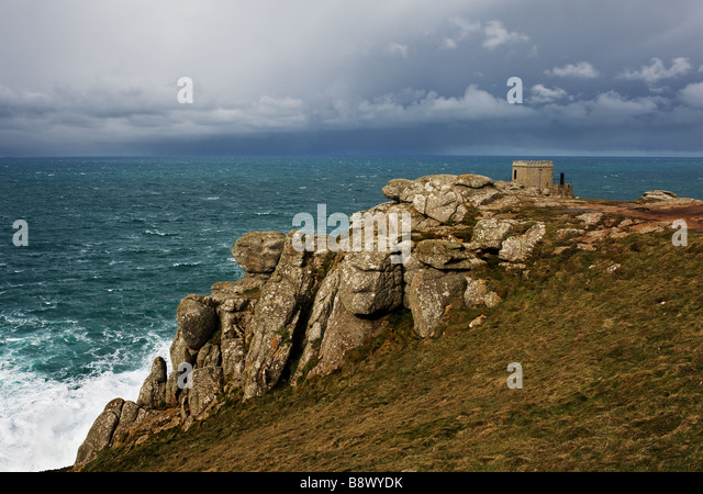The old Coastguard Lookout station at Sennen. - Stock Image