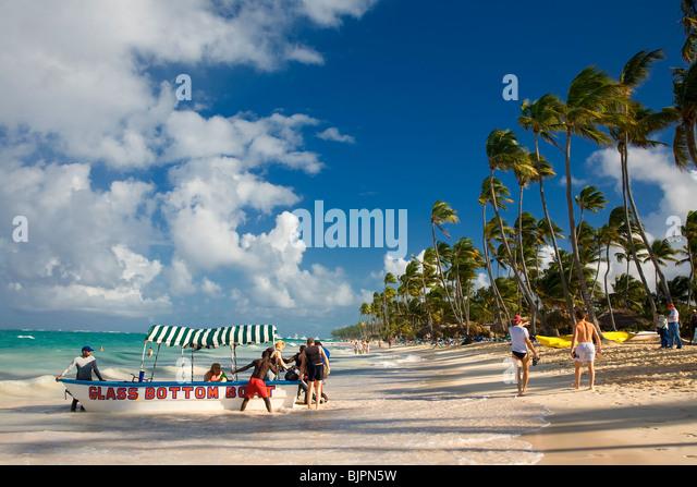 BAVARO BEACH, PUNTA CANA, DOMINICAN REPUBLIC - Stock Image