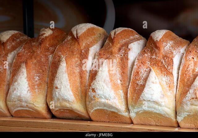 Freshly baked bred on sale at Taste food festival in Dublin, Ireland - Stock Image