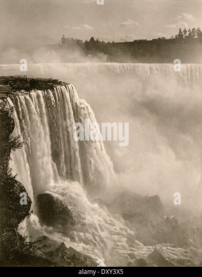 Horseshoe Falls, part of Niagara Falls, 1890s. - Stock-Bilder
