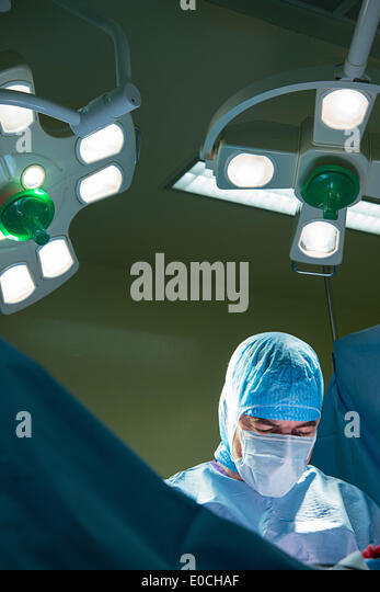 Hip prosthesis, surgery - Stock Image