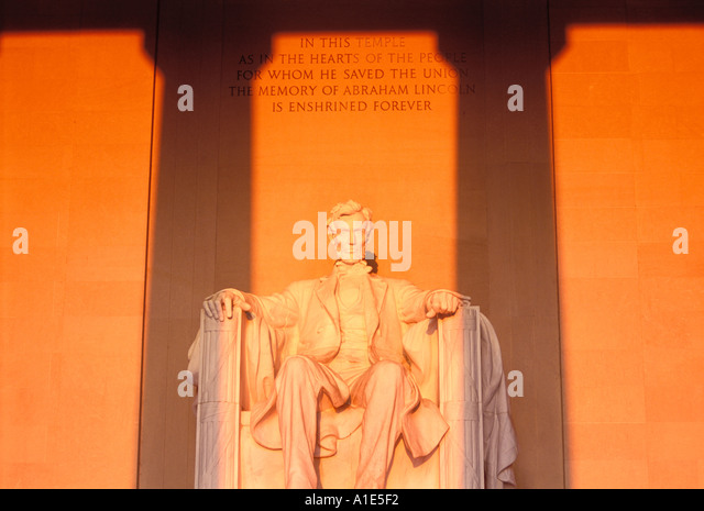 Lincoln Memorial in Washington D.C. - Stock Image