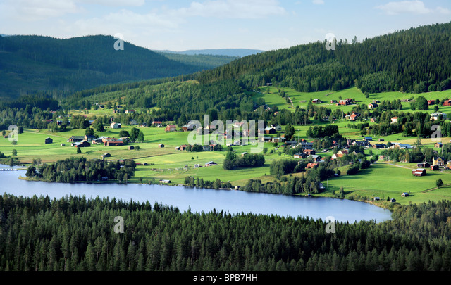 Swedish landscape - Stock Image