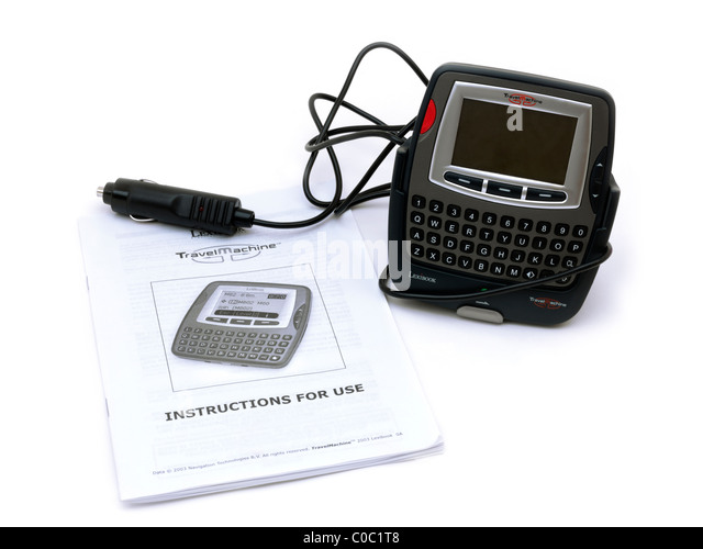 Lexibook Travel Machine An Early Pocket Digital Route Finder And Instruction Manual - Stock-Bilder