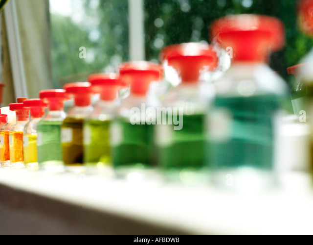Science Bottles - Stock Image