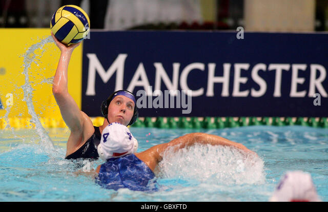 Water Polo - LEN Women's European Nations Trophy - Day One - Manchester Aquatics Centre - Stock Image