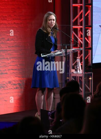 New York, NY, USA. 23rd Mar, 2017. Chelsea Clinton at arrivals for GMHC 35th Anniversary Spring Gala, Highline Stages, - Stock Image