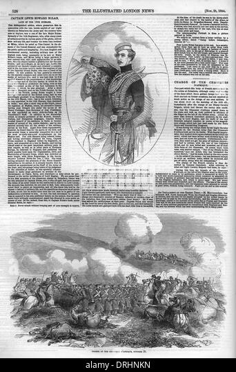 Page from the Illustrated London News, 1854. - Stock Image