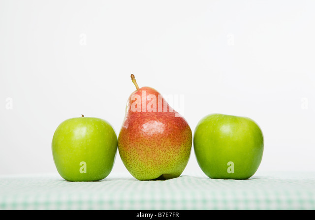 Apples and pear - Stock Image